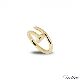 Cartier 18k Yellow Gold Juste un Clou Ring Size 53 B4092600